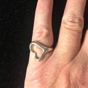 Tiffany & Co Elsa Peretti Open Heart Sterling Ring